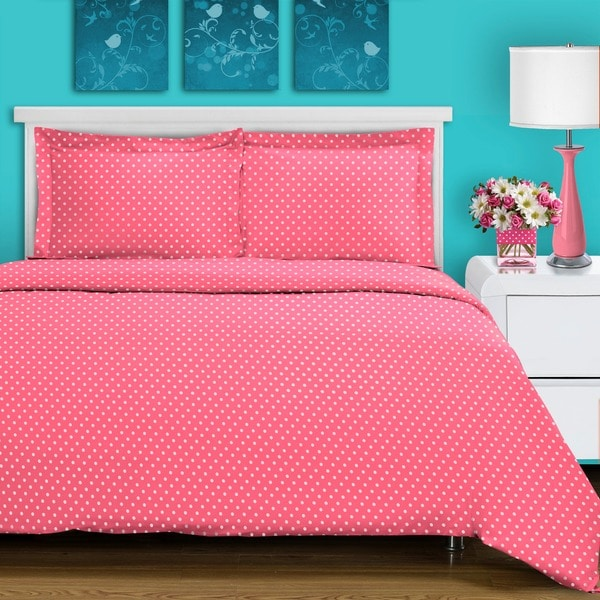 shop superior 600 thread count polka dot cotton blend duvet cover set free shipping on orders. Black Bedroom Furniture Sets. Home Design Ideas
