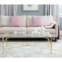 Shop Safavieh Tait Antique Gold Leaf Coffee Table On