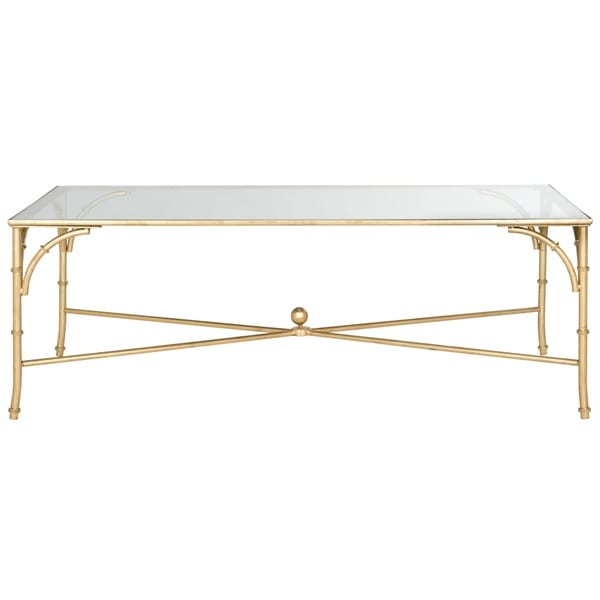 Safavieh Maurice Gold Coffee Table   Free Shipping Today   Overstock.com    16245607