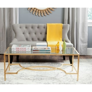 "Safavieh Inga Gold Coffee Table - 48"" x 23"" x 18"""