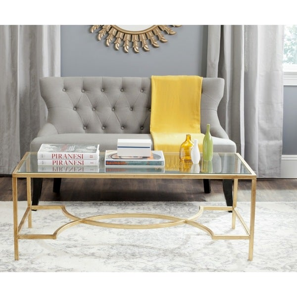 Shop Safavieh Inga Gold Coffee Table
