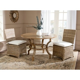 Safavieh Rural Woven Dining Sebesi Kubu Soft Rattan Dining Chairs (Set of 2)