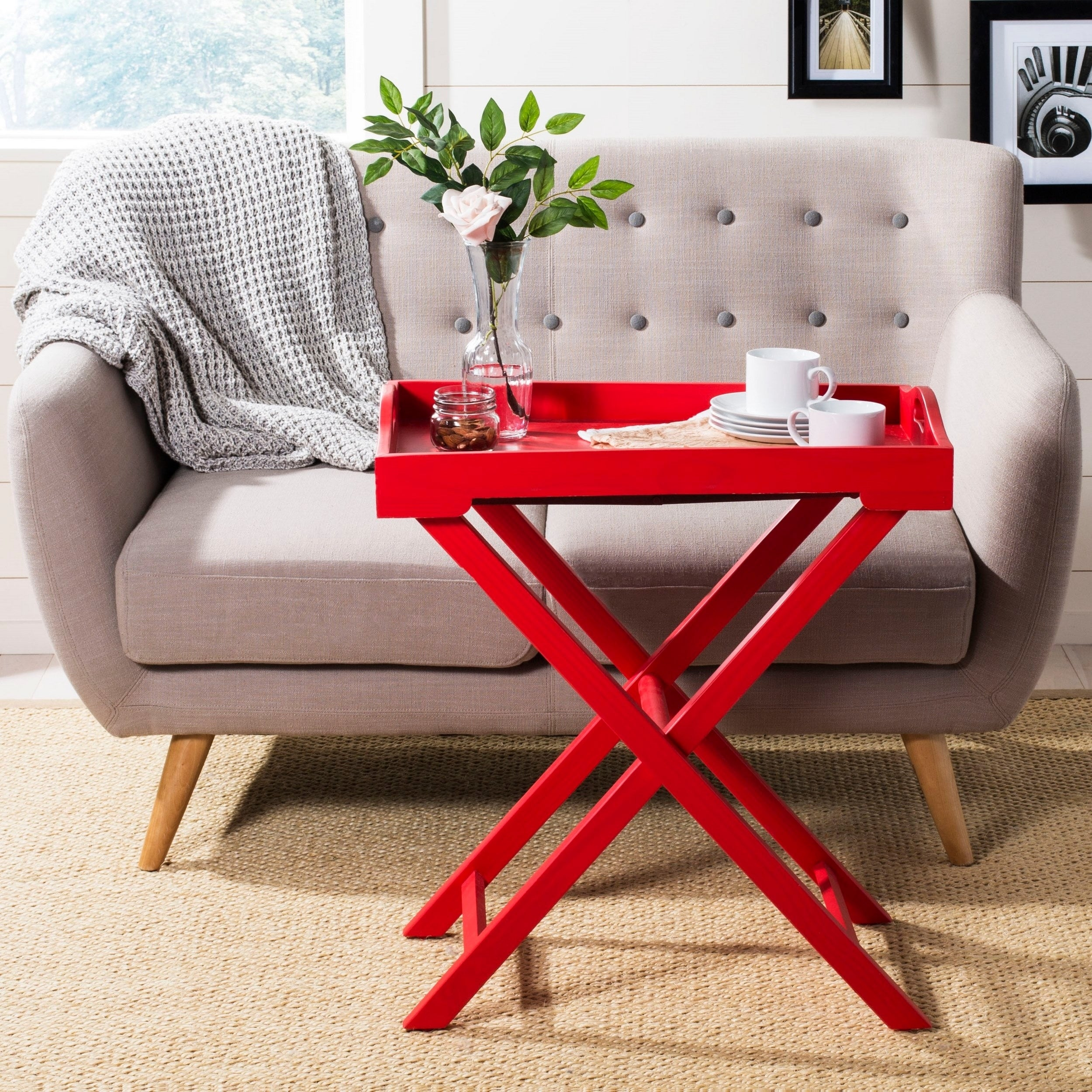 - Shop Safavieh Leo Hot Red Accent Table - 0 - On Sale - Overstock
