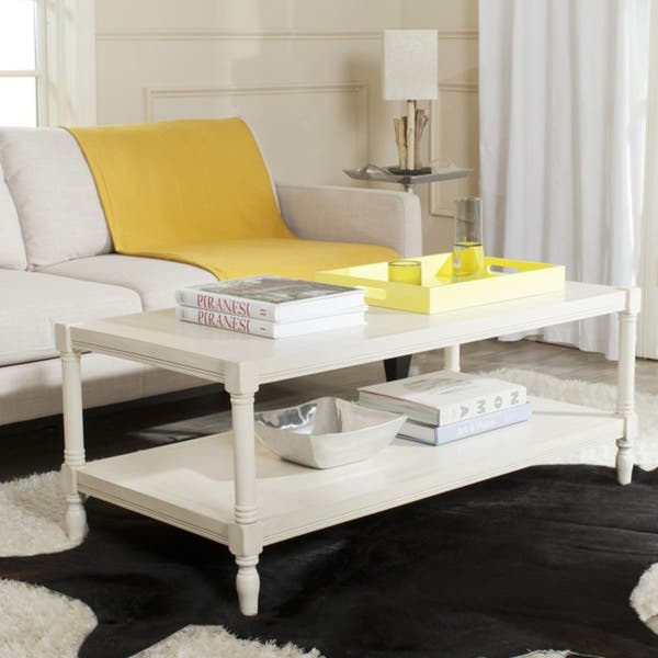Overstock White Coffee Table.Shop Safavieh Bela White Coffee Table 47 2 X 23 6 X 18 9 On