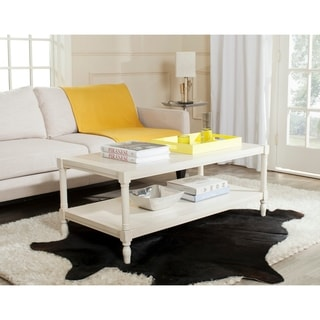 "Safavieh Bela White Coffee Table - 47.2"" x 23.6"" x 18.9"""