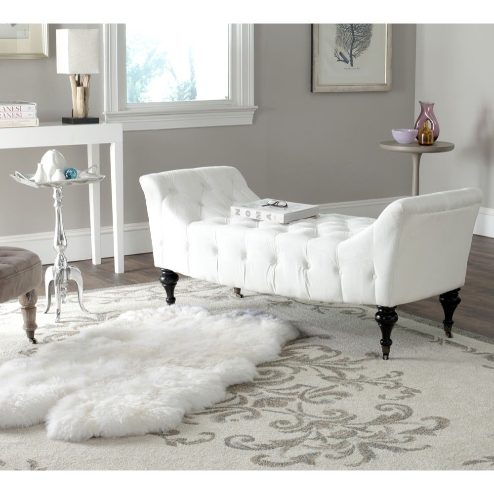 Safavieh En Vogue Georgette White Bench