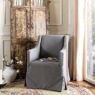Safavieh Sandra Arctic Grey Slipcover Chair