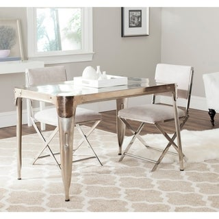 Safavieh Weston Dark Antiqued Silver Dining Table