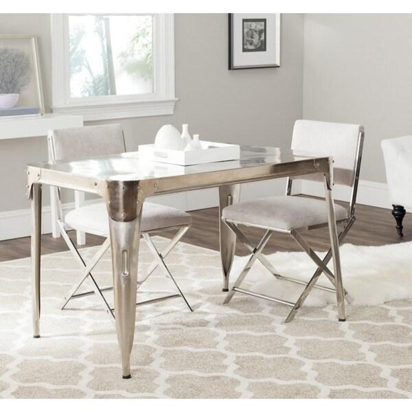 silver dining table. Safavieh Weston Dark Antiqued Silver Dining Table  Free Shipping