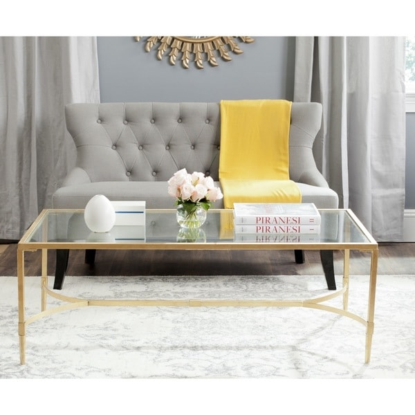 Gold Outdoor Coffee Table: Safavieh Antwan Gold Coffee Table
