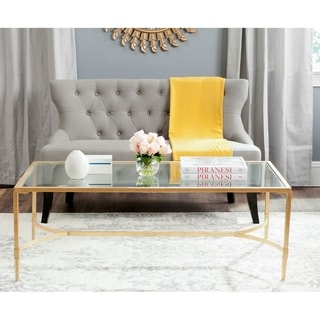 "Link to SAFAVIEH Antwan Gold Coffee Table - 50"" x 26"" x 18"" Similar Items in Living Room Furniture"