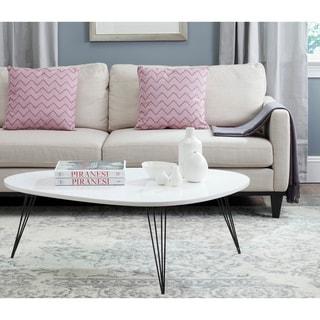 Safavieh Mid-Century Wynton White/ Black Lacquer Modern Coffee Table