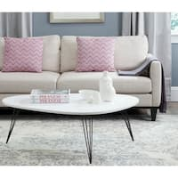 Safavieh Mid-Century Wynton White/ Black Lacquer Modern Coffee Table