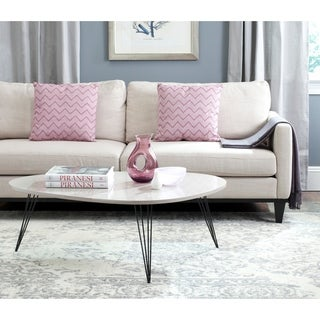 Safavieh Wynton Taupe/ Black Lacquer Coffee Table
