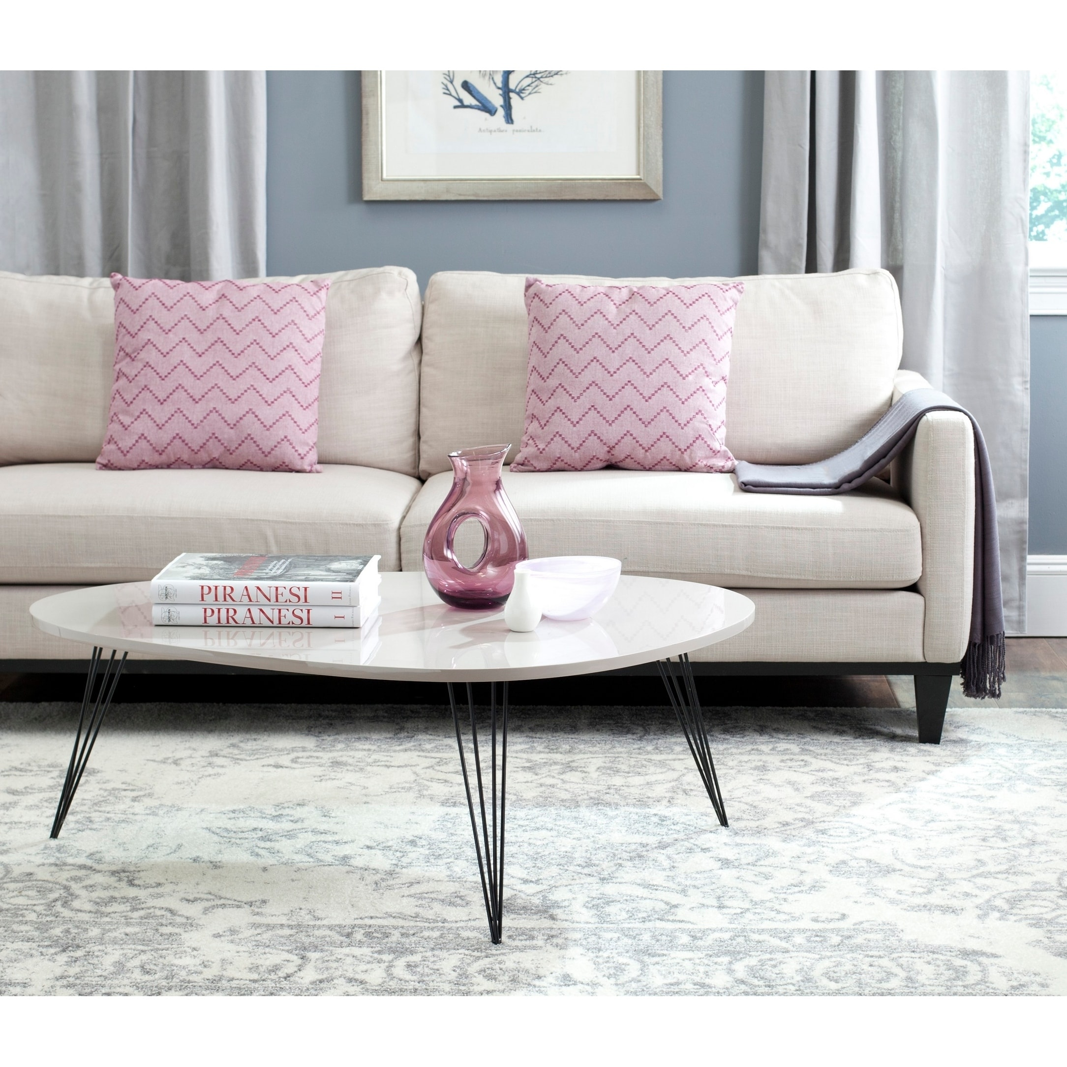 - Shop Safavieh Wynton Taupe/ Black Lacquer Coffee Table - 44