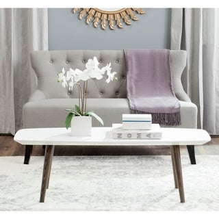 Safavieh Josiah White/ Dark Brown Lacquer Coffee Table