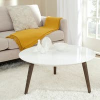 Safavieh Josiah White/ Dark Brown Lacquer Accent Table