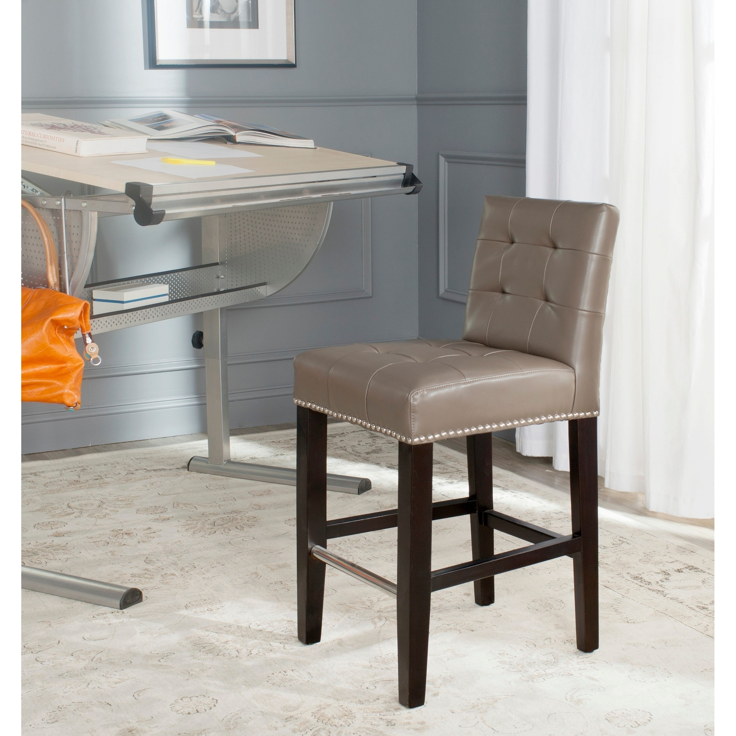 c6a848c329f Details about Safavieh Thompson Clay 26-inch Counter Stool