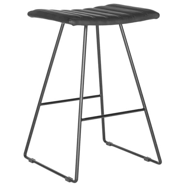 Terrific Shop Safavieh 26 8 Inch Akito Black Counter Stool Set Of 2 Cjindustries Chair Design For Home Cjindustriesco
