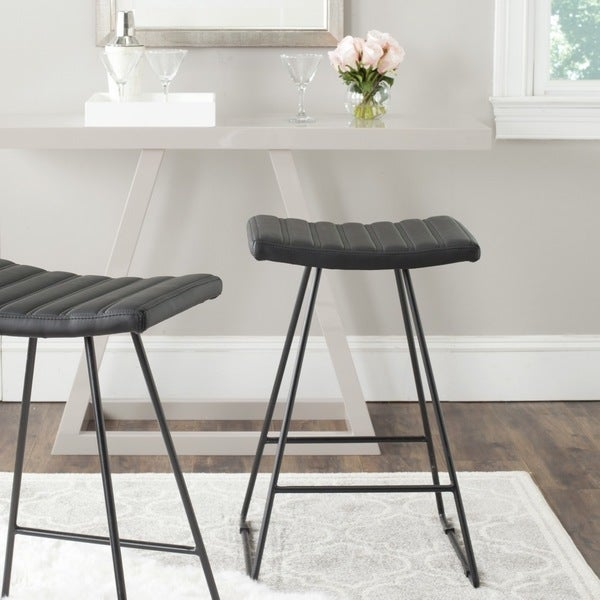 Safavieh 26.8 Inch Akito Black Counter Stool (Set Of 2)