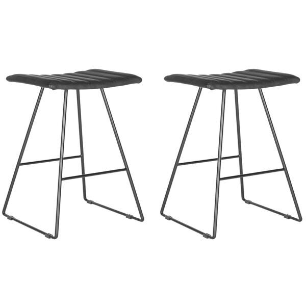 Phenomenal Shop Safavieh 26 8 Inch Akito Black Counter Stool Set Of 2 Cjindustries Chair Design For Home Cjindustriesco