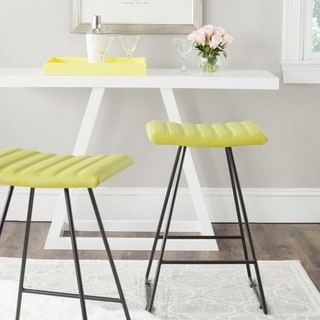 Safavieh 26.8-inch Akito Green Counter Stool (Set of 2)
