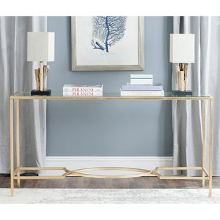"""Link to Safavieh Inga Gold Console - 63"""" x 16"""" x 32"""" Similar Items in Living Room Furniture"""