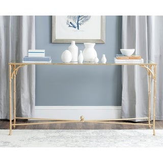 "Link to SAFAVIEH Maurice Gold Console Table - 63"" x 16"" x 32"" Similar Items in Living Room Furniture"