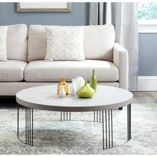 "Safavieh Keelin Grey/ Black Coffee Table - 37.4"" x 37.4"" x 13.8"""