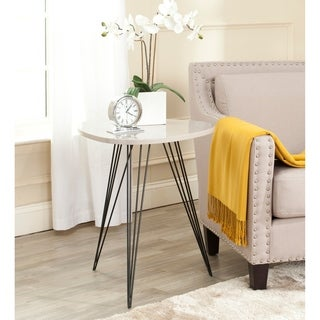 Safavieh Mid-Century Wolcott Taupe/ Black Lacquer Side Table