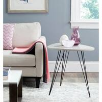 Safavieh Mid-Century Wynton Taupe/ Black Lacquer Modern End Table
