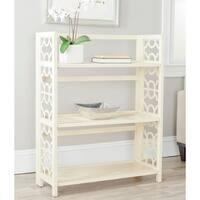 Safavieh Natalie Antique White Low Bookcase