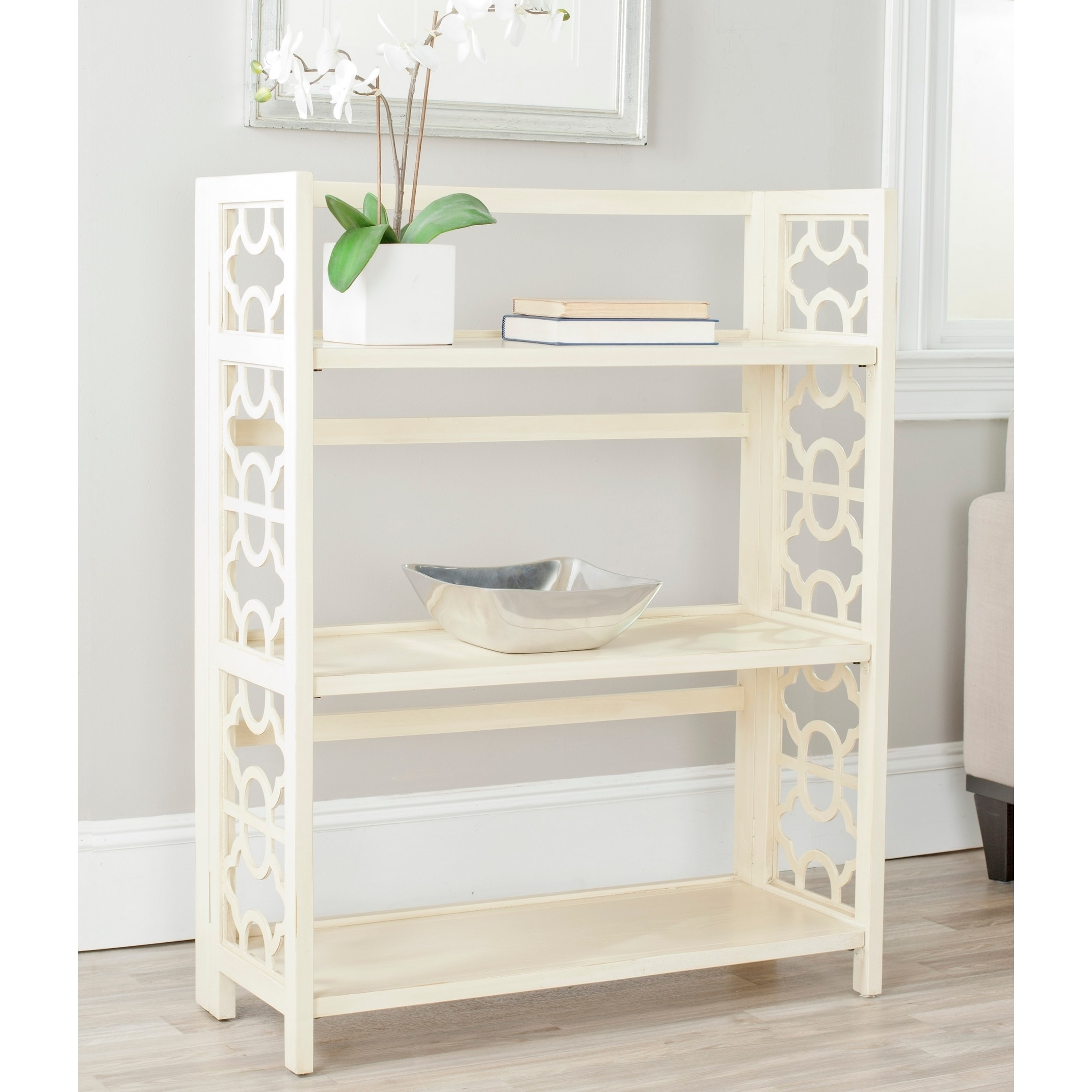Safavieh Natalie Antique White Low Bookcase