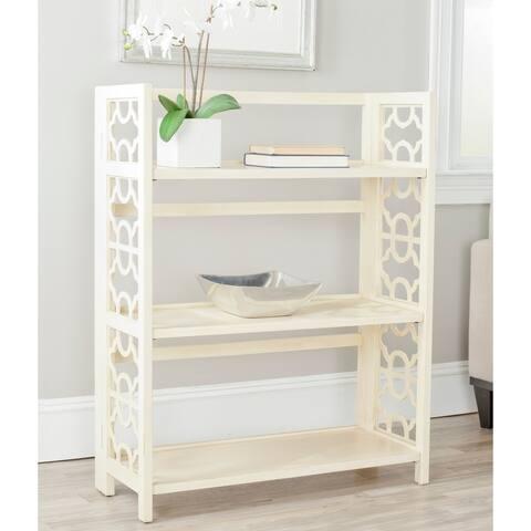 "Safavieh Natalie Antique White Low Bookcase - 33.5"" x 13.4"" x 42.5"""