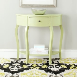 Safavieh Jan Demilune Avocado Green Small Console