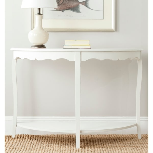 """SAFAVIEH Christina Off White Console - 48"""" x 18"""" x 33"""". Opens flyout."""
