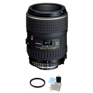 Tokina 100mm f/2.8 AT-X M100 AF Pro D Macro Autofocus Lens for Nikon AF-D Bundle