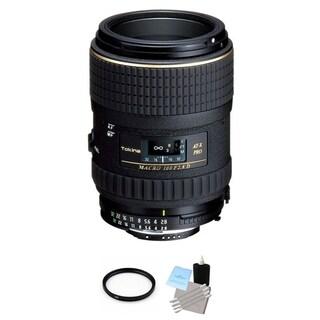 Tokina 100mm f/2.8 AT-X M100 AF Pro D Macro Autofocus Lens for Nikon AF-D Bundle