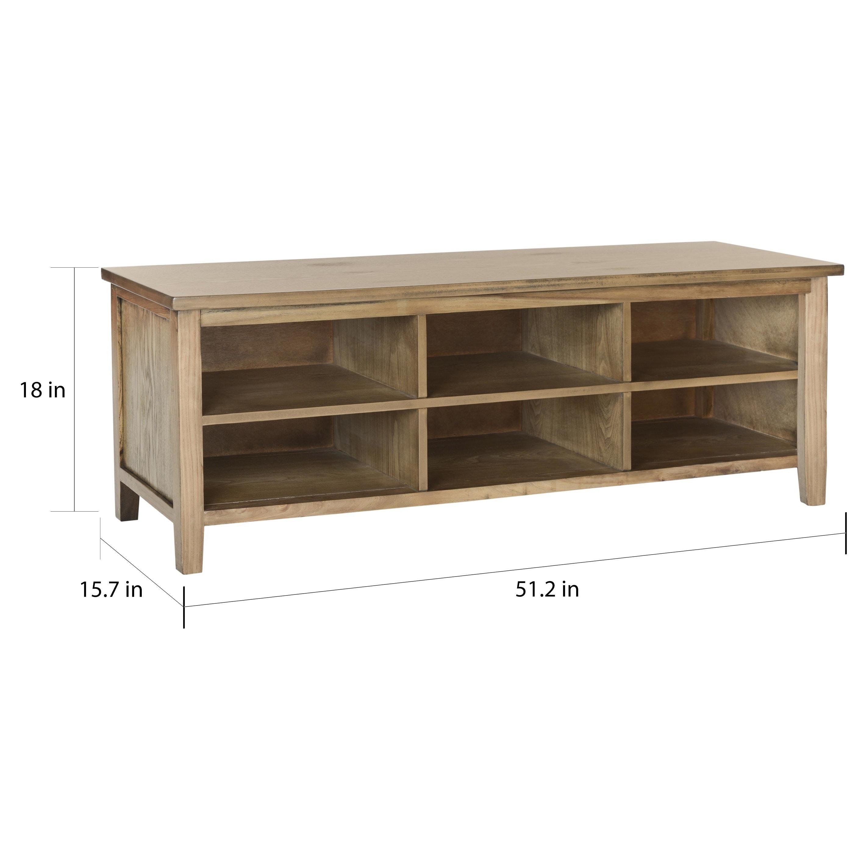 Safavieh Sadie Oak Finish Low Bookshelf 51 2 X 15 7 X 19