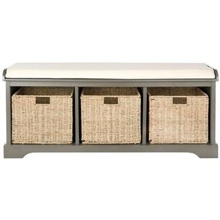 Safavieh Lonan Grey/ White Storage Bench