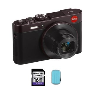 Leica C 12.1MP Dark Red Digital Camera 16GB Bundle