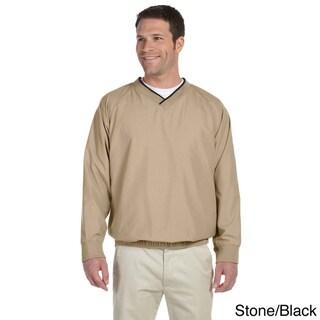 Men's V-neck Microfiber Wind Shirt