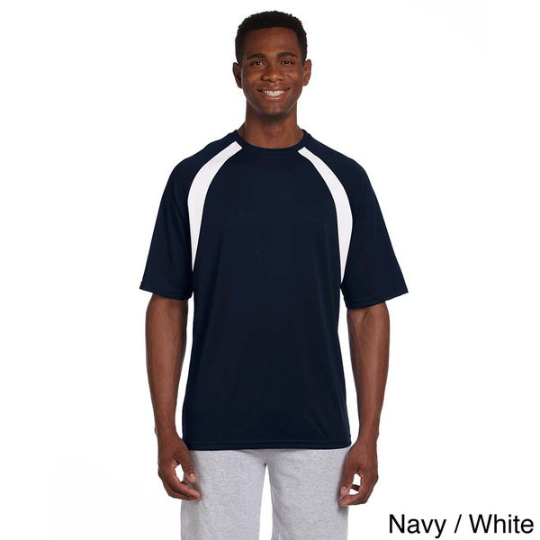 Mens Athletic Sport Colorblocked T-shirt