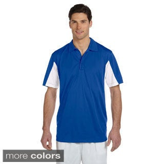 Men's Side Blocked Micro-Pique Polo (More options available)