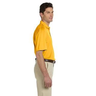 Men's Double Mesh Short-sleeve Sport Shirt
