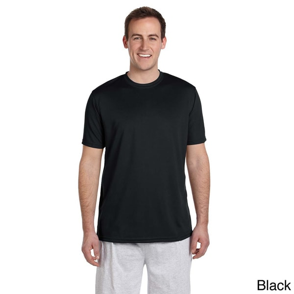 Mens Solid Athletic Sport T-shirt