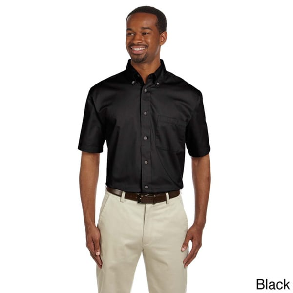 Mens Easy Blend Short Sleeve Twill Shirt With Stain-Release by  Best Design