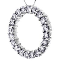 Luxurman 14k gold 4 25ct tdw diamond circle of love necklace free 14k white gold 3ct tdw round eternity diamond pendant aloadofball Choice Image