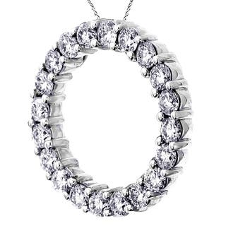 25 to 3 carats diamond necklaces for less overstock 14k white gold 3ct tdw round eternity diamond pendant aloadofball Images