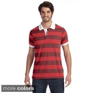Alternative Men's Striped Short Sleeve Polo Shirt